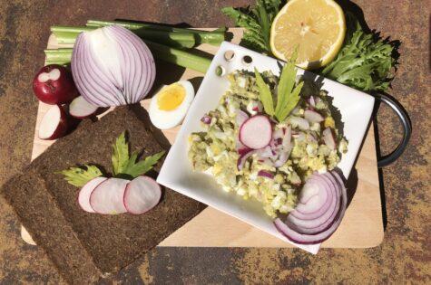 Avokádo-vajíčkový salát